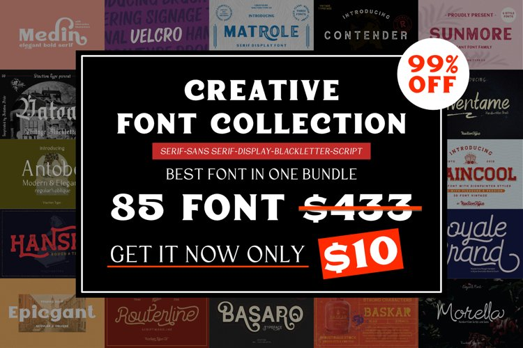 Creative Font Collection Bundle example image 1