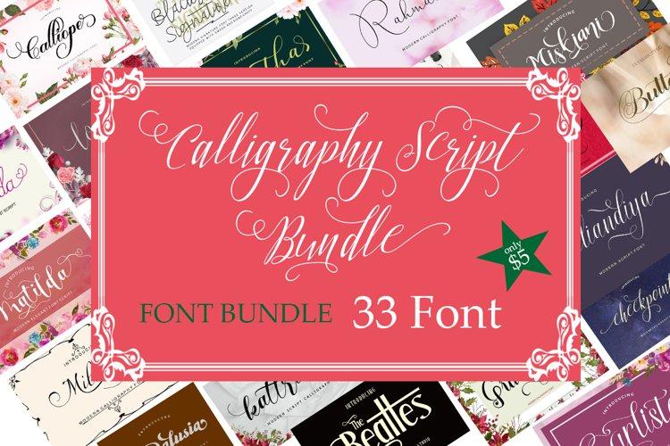 Calligraphy Font Bundle example image 1