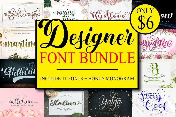 Designer Font Bundle example image 1