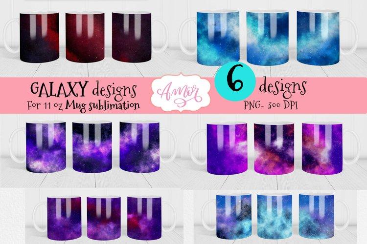 Bundle Galaxy backgrounds for 11oz mug sublimation