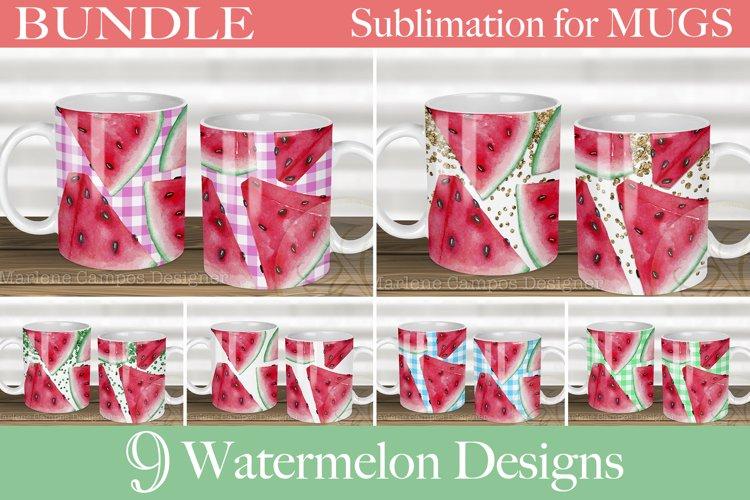 BUNDLE Watermelon Designs Sublimation for Mugs /Set of 9