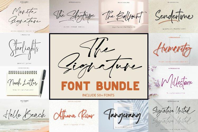 The Signature Font Bundle Sale example image 1