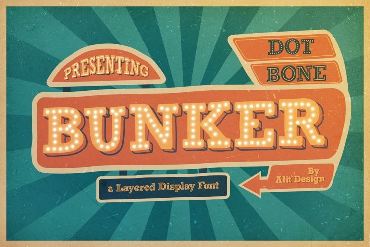 Bungker Typeface example image 1