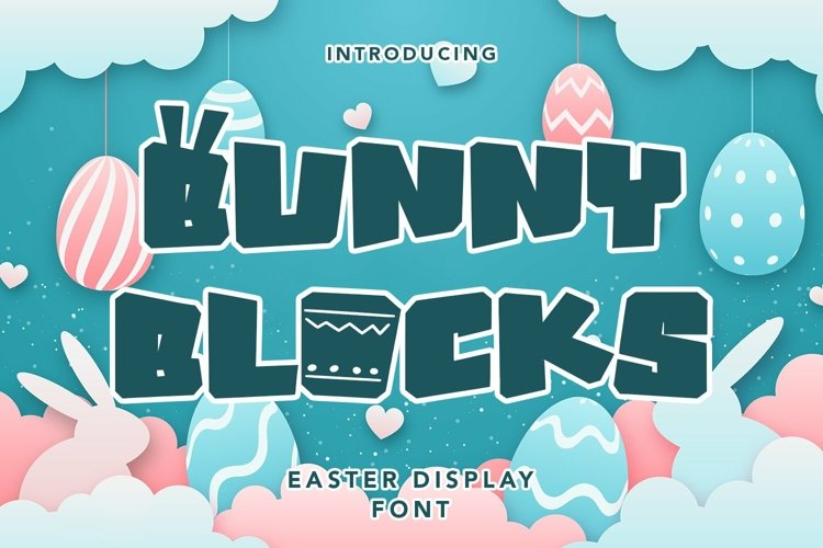 Web Font Bunny Blocks - Easter Display Font example image 1