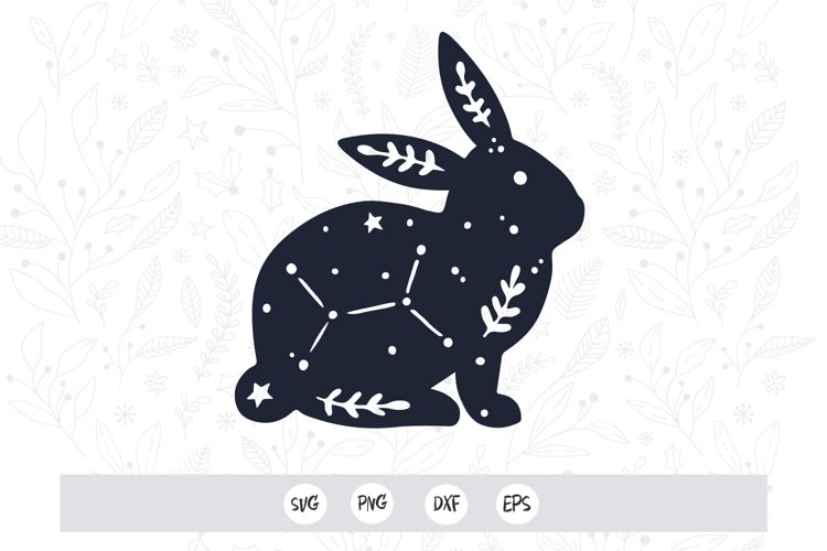 Floral bunny svg png / Files for cutting machines / Bunny Fl