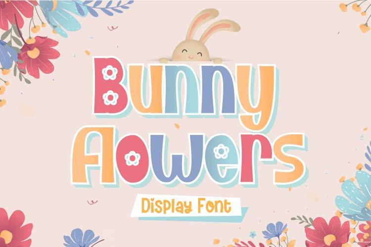 Bunny Flower - Display Font