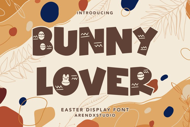 Bunny Lover - Easter Display Font example image 1