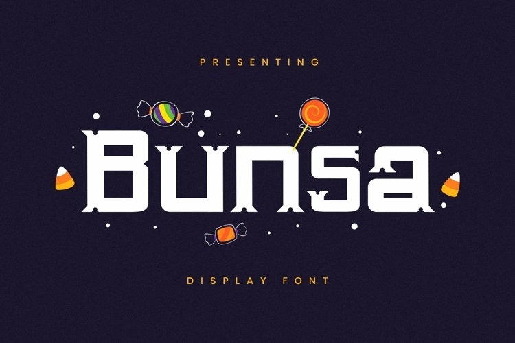 Web Font Bunsa - Halloween Font example image 1