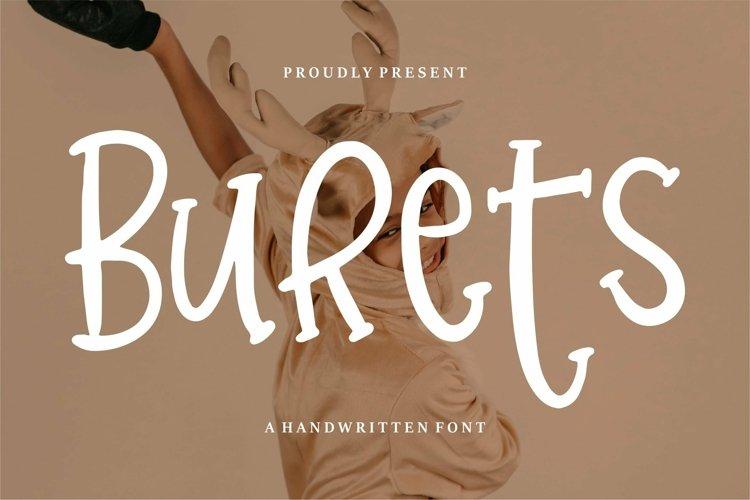 Web Font Burets - A Handwritten Font