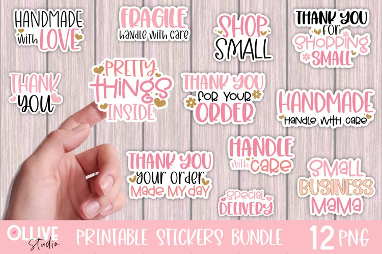 Packaging and Small Business Sticker Bundle PNG example image 1