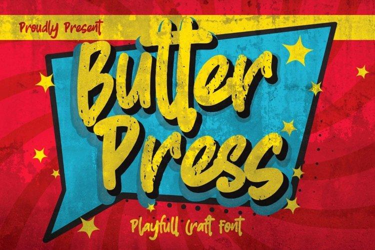 Butterpress - Grungy cartoon font brush example image 1