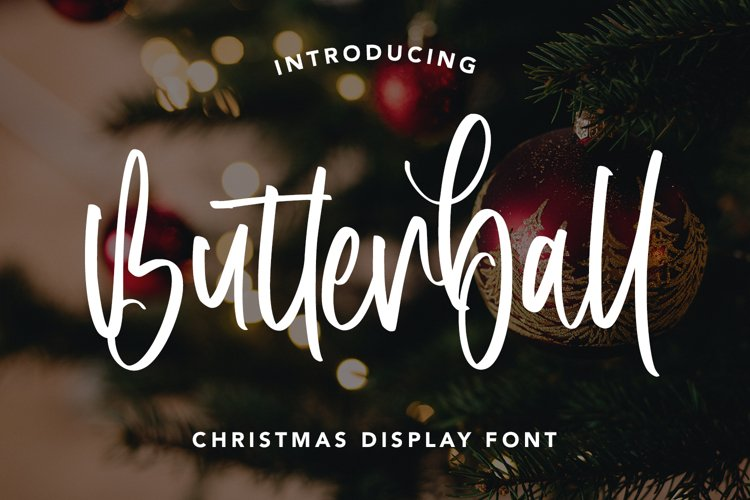 Butterball - Christmas Display Font example image 1