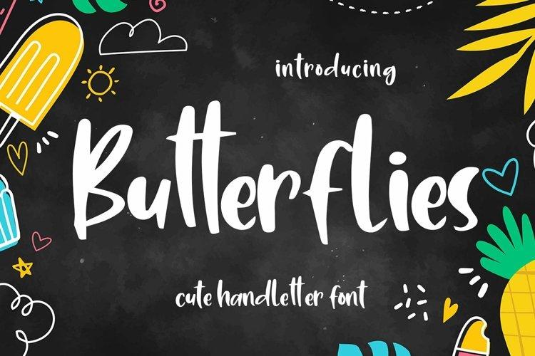 Web Font Butterflies - Cute Handletter Font example image 1
