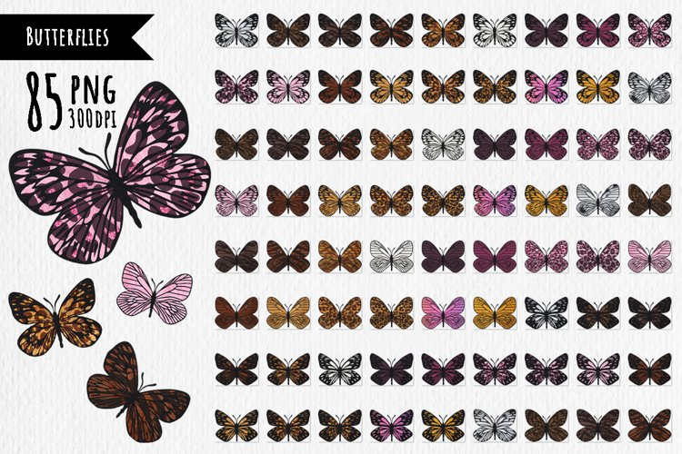 Butterflies with animal skin- prints