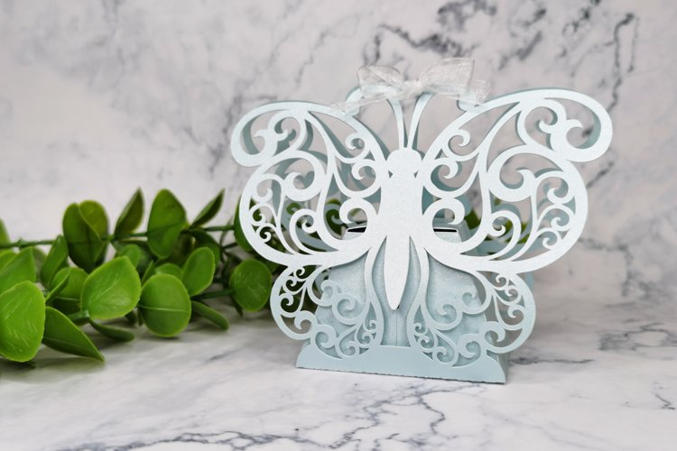 Butterfly favor box svg, Wedding favor boxes