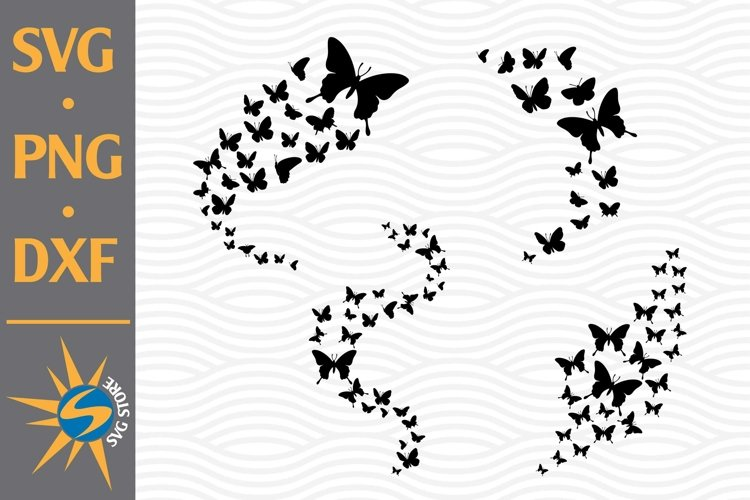 Butterflies Flying SVG, PNG, DXF Digital Files Include