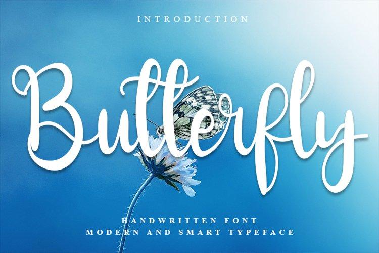 Butterfly - A Modern Handwritten Font example image 1