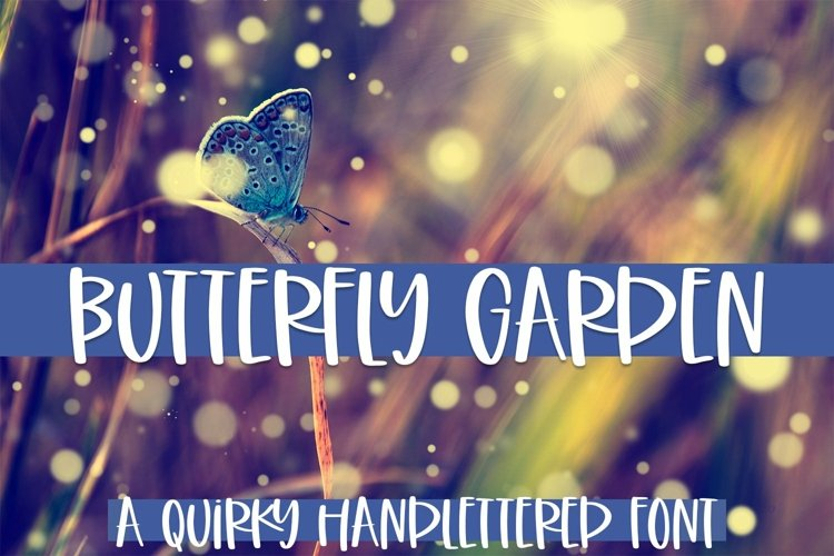 Web Font Butterfly Garden - A Quirky Handlettered Font example image 1