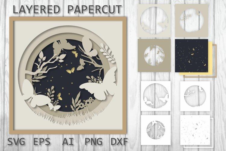 Layered papercut, Paper cut, 3D Butterfly SVG Paper Cutting
