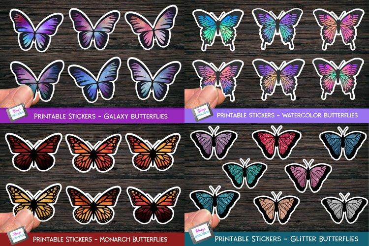Butterfly Sticker Bundle - 26 Printable Butterfly Stickers