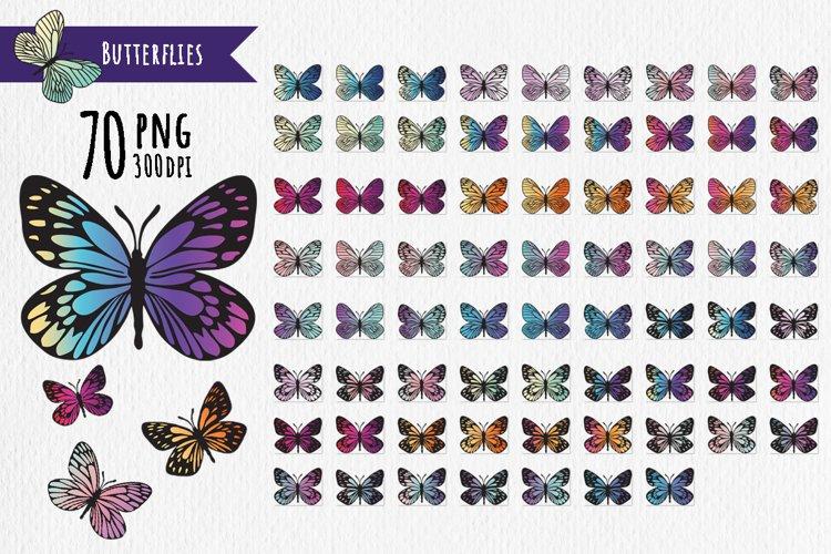 Bright modern butterflies