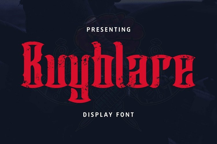 Web Font Buyblare - Tattoo Font example image 1