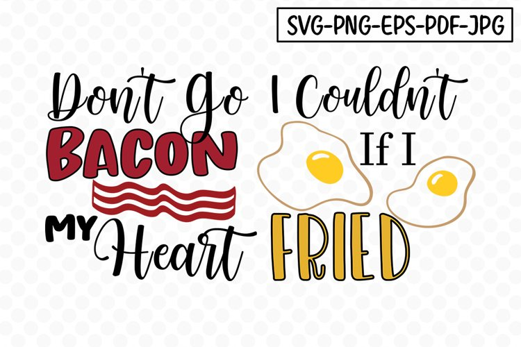 Cute Couple Bacon-Fried SVG