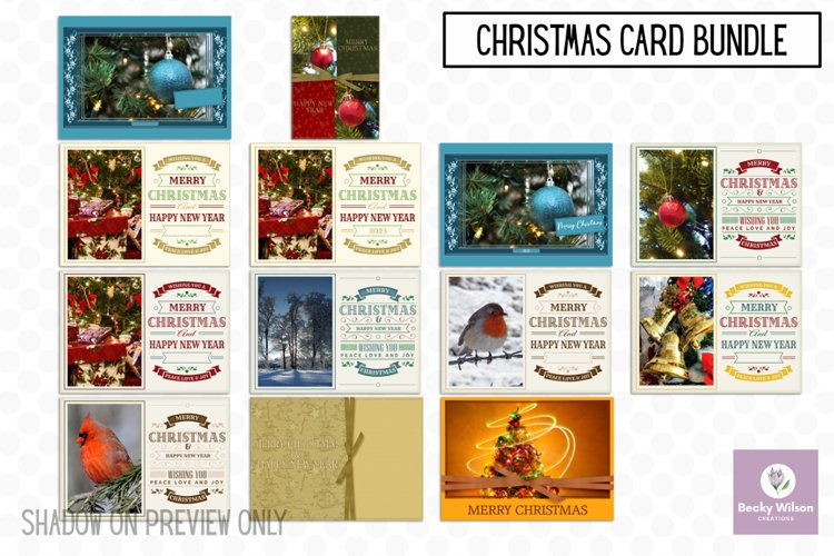 Christmas Cards - Add The Year example image 1
