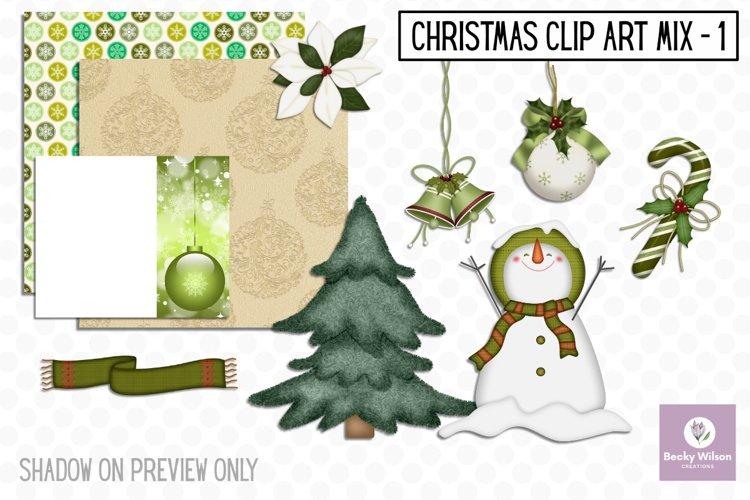 Christmas Clip Art Mix Set 1 example image 1