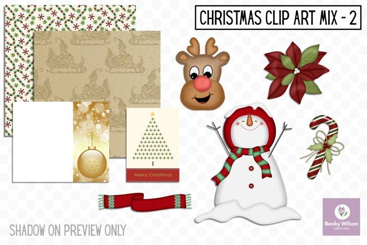 Christmas Clip Art Mix Set 2 example image 1