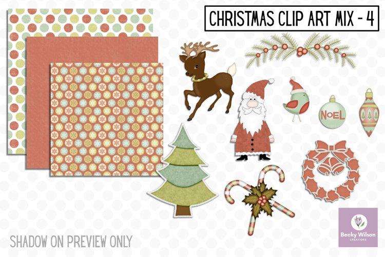 Christmas Clip Art Mix Set 4 example image 1