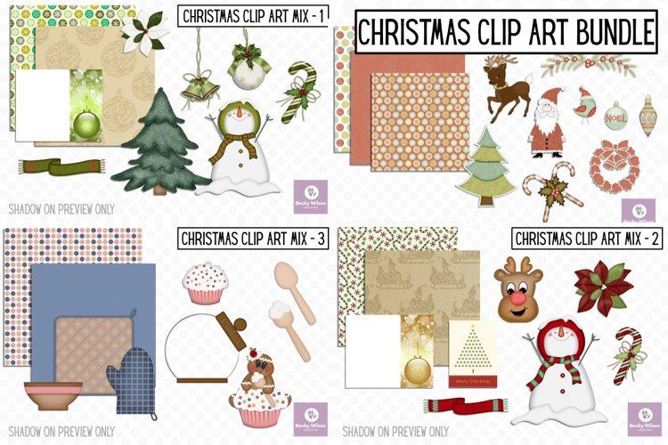 Christmas Clip Art Mix Bundle example image 1
