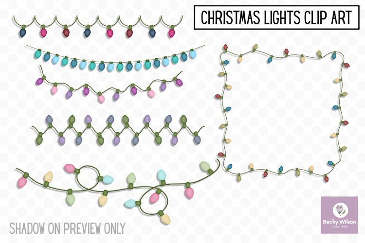 Christmas Lights Clip Art example image 1