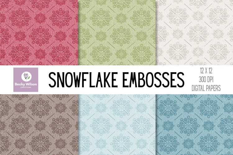 Embossed Snowflake Papers example image 1