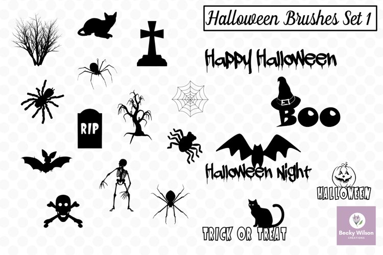 Halloween SVG and Brushes Set 1 example image 1