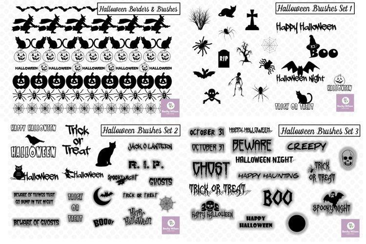 Halloween SVG - Brushes - Borders Bundle example image 1