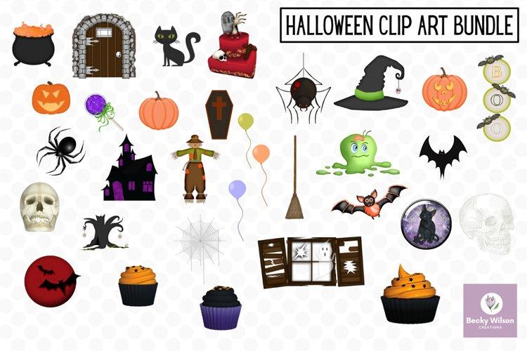 Halloween Clip Art Bundle example image 1