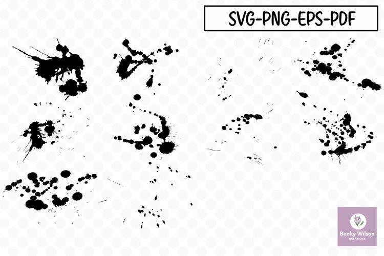 Messy Splats - SVG Bundle example image 1