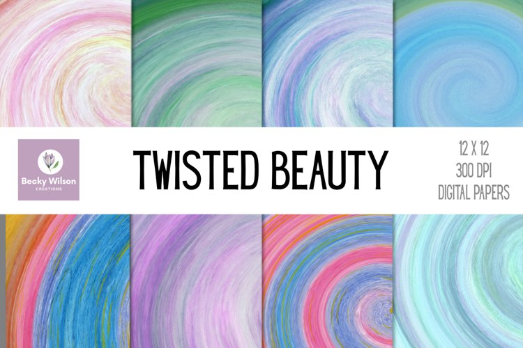 Twisted Beauty Digital Papers and Backgrounds example image 1