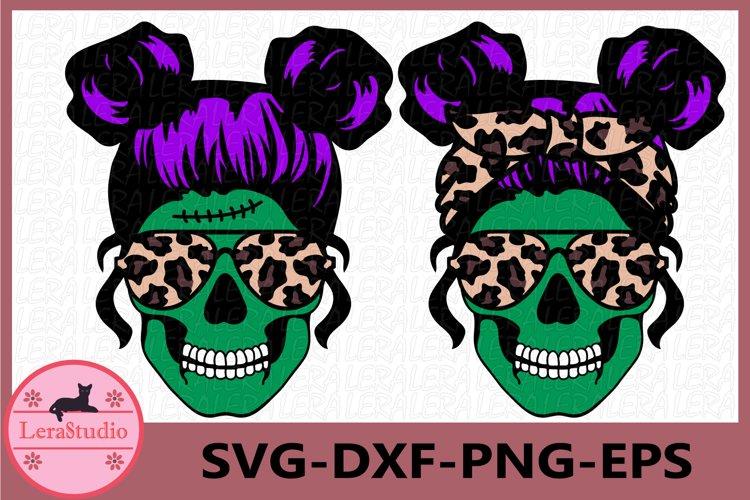 Spooky Mom skull Svg, Mom Monster Svg, Skull example image 1