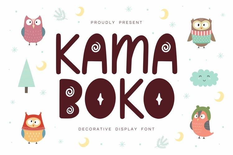 Kamaboko - Decorative Display Font example image 1
