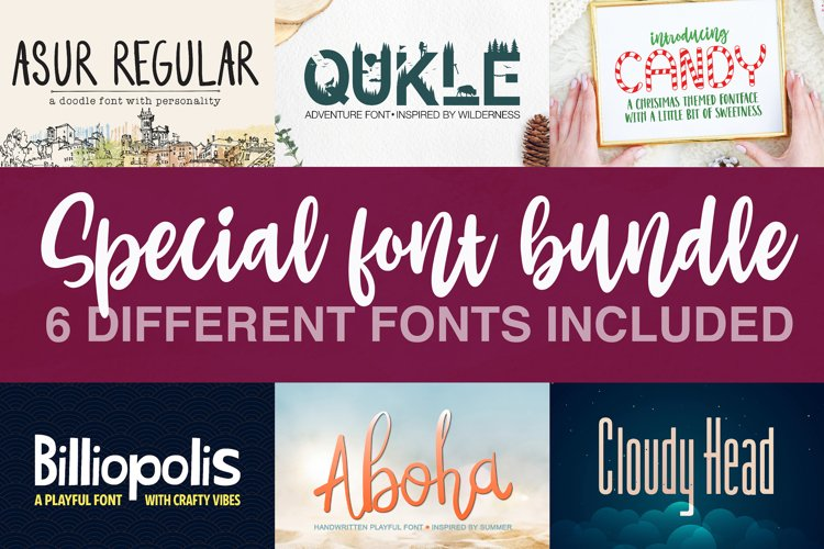 Special Font Bundle - Crafter Font Bundle example image 1