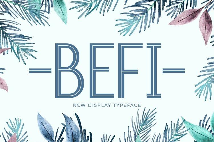 Web Font Befi example image 1