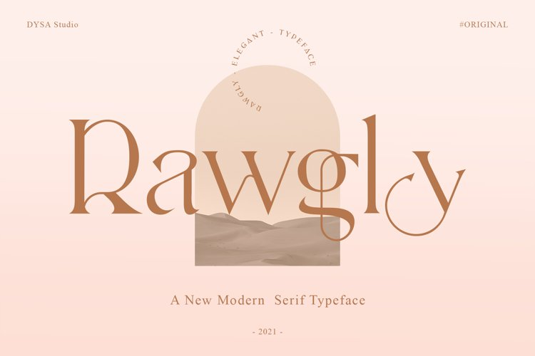Rawgly - A New Modern Serif Typeface example image 1