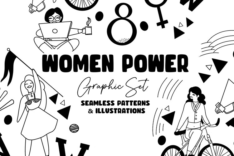 March 8 - Women Power Graphic Set