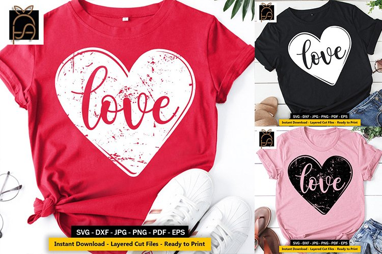 Love - Heart - Valentines Day SVG DXF EPS PNG Cut Files