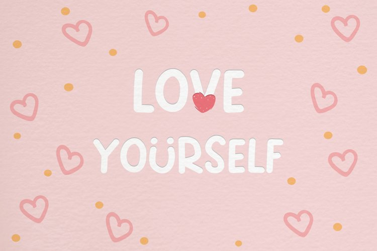 Love Yourself - A Cute Smiley Handwritten Font example image 1