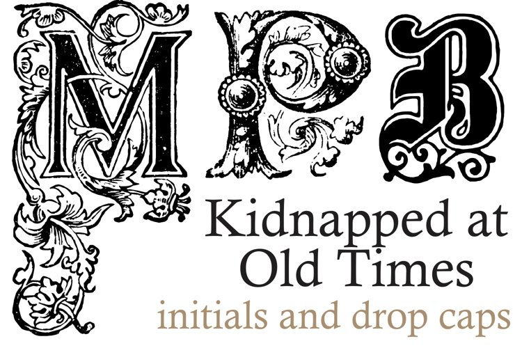 Kidnapped at Old Times (SUPER PACK 41 fonts) example image 1
