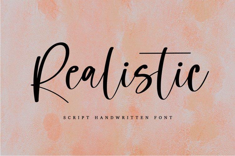 Realistic - Script Hanwritten Font