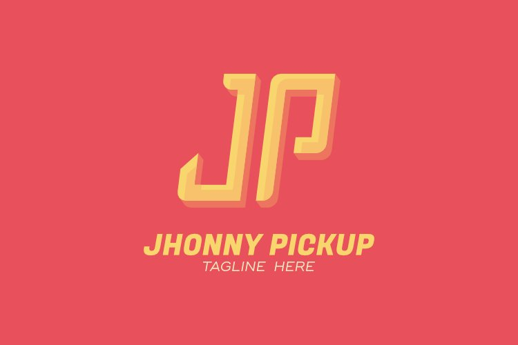 Initial J P letter for delivery package service company logo example image 1